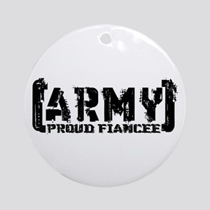 Proud Army Fiancee - Tatterd Style Ornament (Round