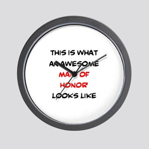 awesome maid of honor Wall Clock