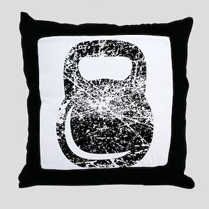 Distressed Kettlebell Throw Pillow