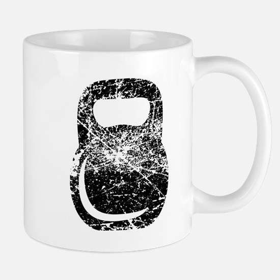 Distressed Kettlebell Mugs