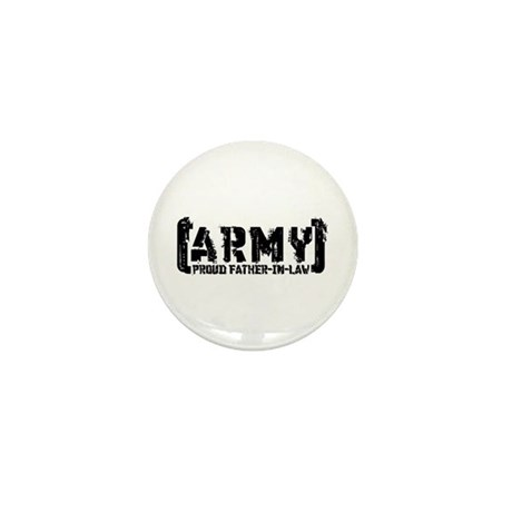 Proud Army Fthr-in-Law - Tatterd Style Mini Button