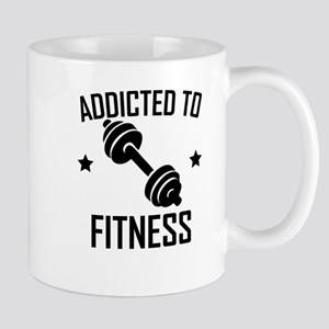 Addicted To Fitness Dumbbell Mugs