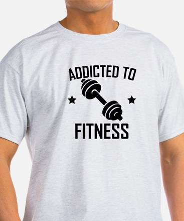Addicted To Fitness Dumbbell T-Shirt
