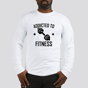 Addicted To Fitness Dumbbell Long Sleeve T-Shirt
