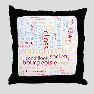 Communist Manifesto Word Cloud Throw Pillow