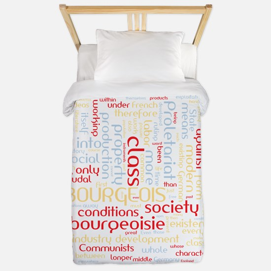 Communist Manifesto Word Cloud Twin Duvet
