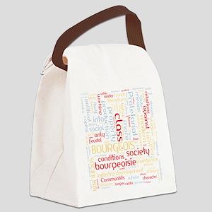 Communist Manifesto Word Cloud Canvas Lunch Bag