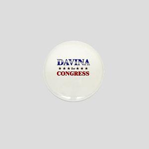 DAVINA for congress Mini Button