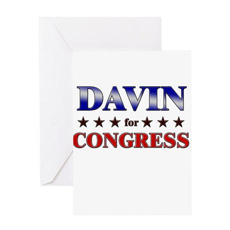 DAVIN for congress Greeting Card
