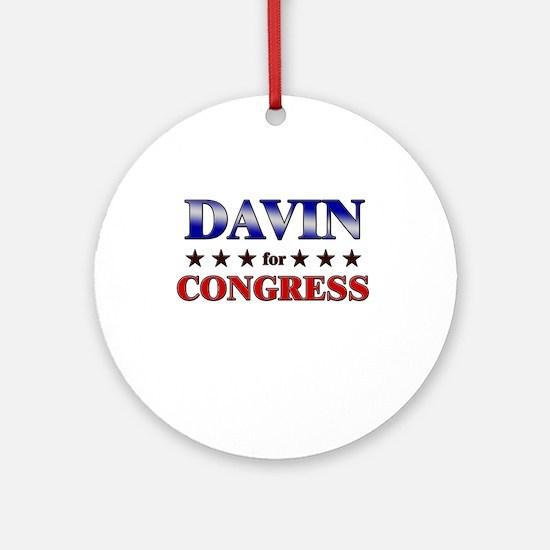 DAVIN for congress Ornament (Round)