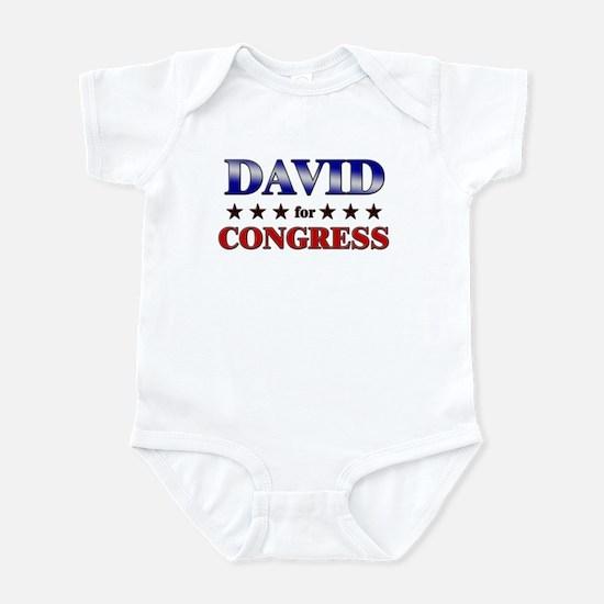 DAVID for congress Infant Bodysuit