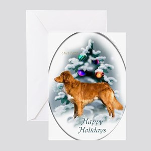 NS Duck Toller Christmas 7 Greeting Cards