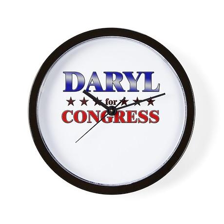 DARYL for congress Wall Clock