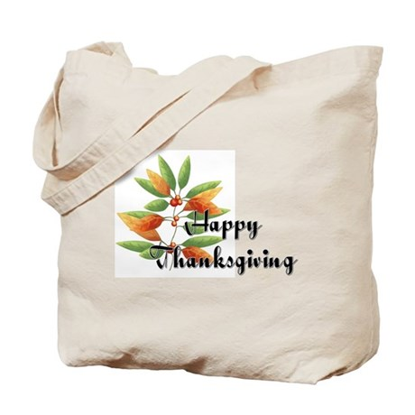 Fall Leaves - Happy Thanksgiv Tote Bag