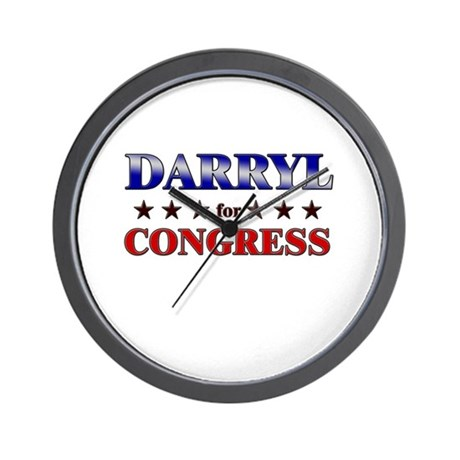 DARRYL for congress Wall Clock