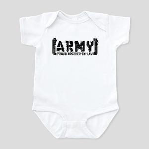 Proud Army Bro-n-Law - Tatterd Style Infant Bodysu