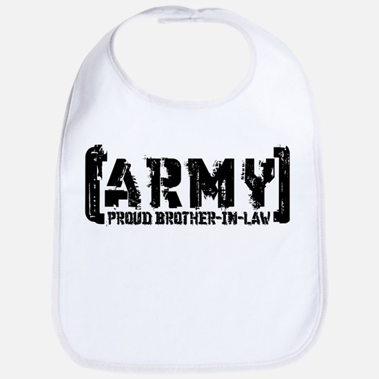 Proud Army Bro-n-Law - Tatterd Style Bib