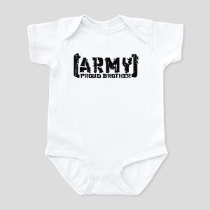 Proud Army Bro - Tatterd Style Infant Bodysuit
