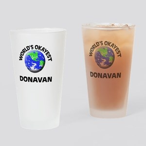 World's Okayest Donavan Drinking Glass