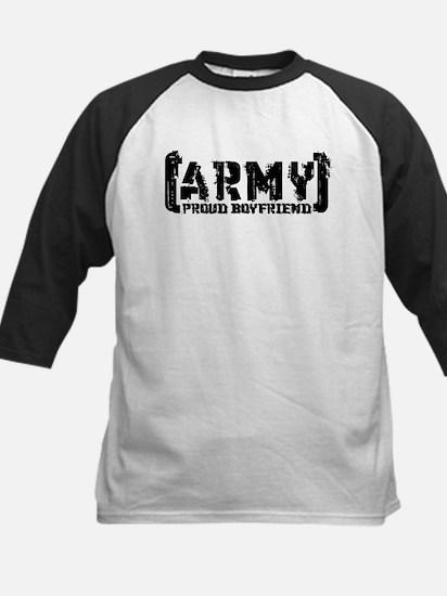 Proud Army BF - Tatterd Style Kids Baseball Jersey