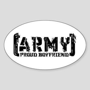 Proud Army BF - Tatterd Style Oval Sticker