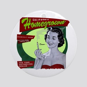 CA Homegrown Ornament (Round)