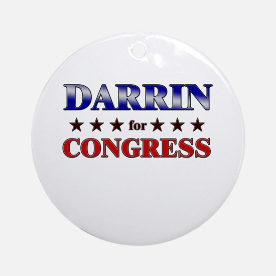 DARRIN for congress Ornament (Round)