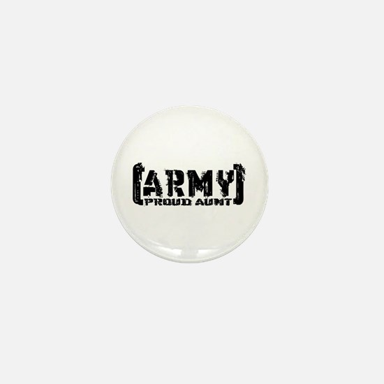Proud Army Aunt - Tatterd Style Mini Button