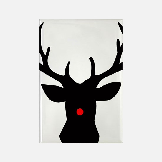 Cute Rudolph the red nose reindeer Rectangle Magnet