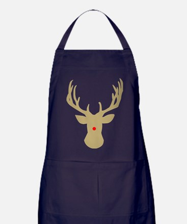 Cute Rudolph the red nose reindeer Apron (dark)