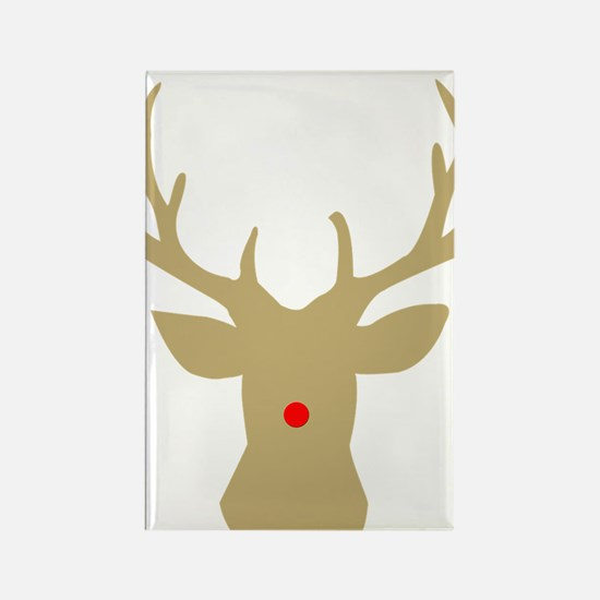 Unique Rudolph the red nose reindeer Rectangle Magnet