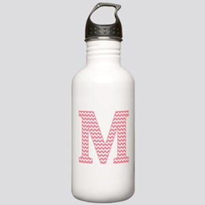 Pink Chevron Letter M Stainless Water Bottle 1.0L