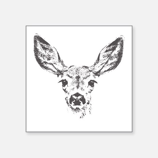 "Fawn deer Square Sticker 3"" x 3"""