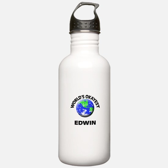World's Okayest Edwin Water Bottle