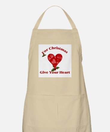 For Christmas give your heart BBQ Apron