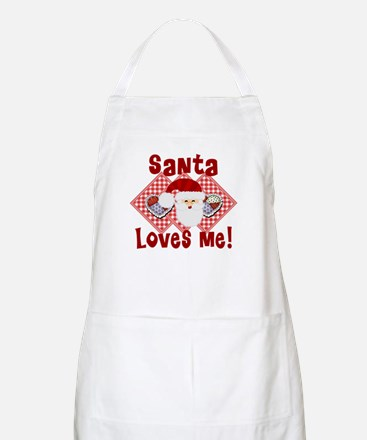 Santa Loves me! BBQ Apron