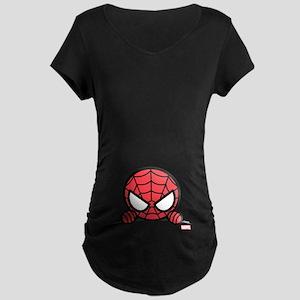 Spider-Man Peeking Maternity Dark T-Shirt 4a452b800