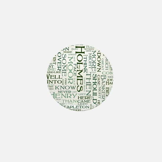 Hound of the Baskervilles Word Cloud Mini Button