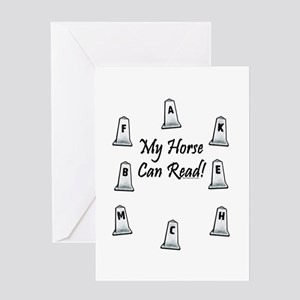 Dressage Arena Letters. Horse Greeting Card