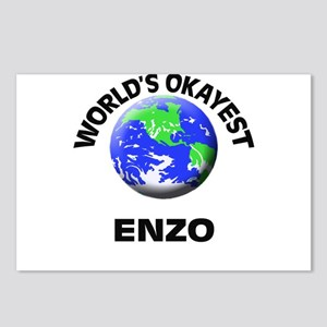 World's Okayest Enzo Postcards (Package of 8)