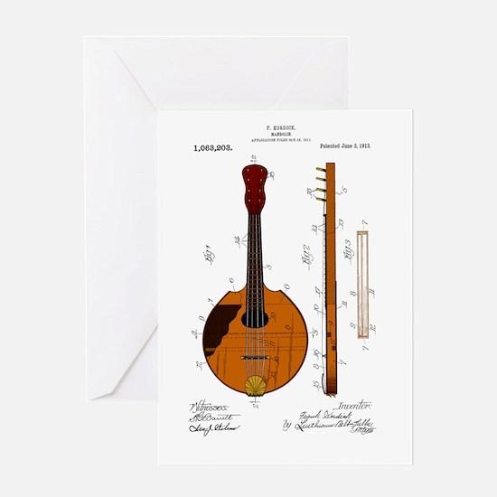 Mandolin Patent Greeting Card