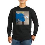 Touchy T-Rex Long Sleeve Dark T-Shirt