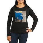 Touchy T-Rex Women's Long Sleeve Dark T-Shirt