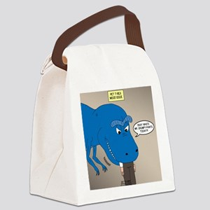 Touchy T-Rex Canvas Lunch Bag