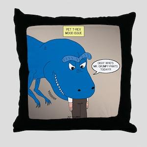 Touchy T-Rex Throw Pillow