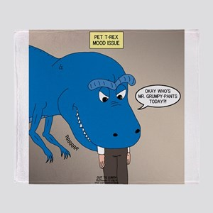 Touchy T-Rex Throw Blanket
