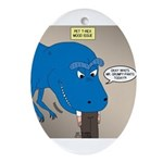 Touchy T-Rex Oval Ornament