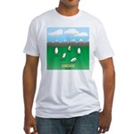 Free-Range Eggs Fitted T-Shirt