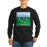 Free-Range Eggs Long Sleeve Dark T-Shirt