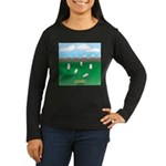 Free-Range Eggs Women's Long Sleeve Dark T-Shirt